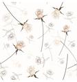 Beautiful seamless rose pattern vector image