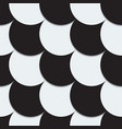 Abstract background from black and white circles vector image