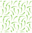 Long green leaves as a seamless pattern vector image