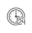 24 hours service support time line icon vector image