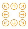8eight orange arrows in circle with different vector image vector image