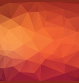 abstract triangle background in golden red tones vector image vector image