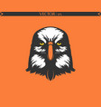 angry eagle silhouette cartoon edition vector image vector image