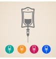 bag of blood icons vector image