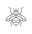 bee line icon concept bee linear vector image vector image