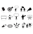 black marketing icons set vector image vector image