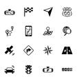 black navigation icons set vector image vector image