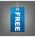 Blue price tag FREE vector image vector image