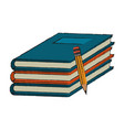 books piled up vector image vector image