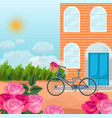 brick house in a province background vector image vector image