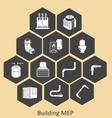 Building MEP - mechanical-plumbing vector image