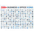 business office finance icons set blue black vector image vector image