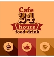 cafe labels vector image vector image