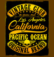 california vintage slogan man t shirt graphic vector image vector image