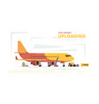 cargo plane upload civil aircraft technical cars vector image