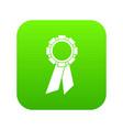 champion medal icon digital green vector image vector image