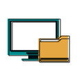 computer monitor icon image vector image vector image