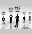 concept businessman timeline 2 vector image vector image