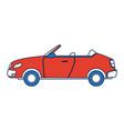convertible car sport luxury elegant vehicle vector image vector image
