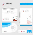 decorations logo calendar template cd cover diary vector image vector image