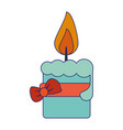 decorative candle with bow vector image