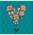 doodle heart made of flowers vector image