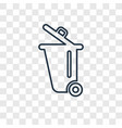 dust bin concept linear icon isolated on vector image