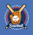 emblem sticker to baseball sport game vector image vector image