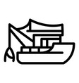 fishing boat tools icon outline style vector image vector image