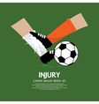 Football Player Make Injury To An Opponent vector image vector image