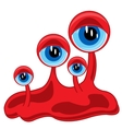 Formless crock with eye vector image vector image