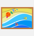 frame for picture wooden baguette vector image vector image