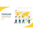 franchise website landing page design vector image vector image