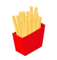 French fries isometric 3d icon vector image