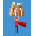 Funny Delivery character man vector image vector image