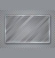 glass plates set glass banners on transparent vector image vector image