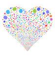 globe fireworks heart vector image vector image
