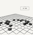 go or weiqi chinese board game sketch vector image vector image