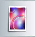 gradient colorful cover background for the vector image vector image