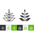 grass simple black line icon vector image vector image