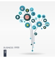 Growth flower concept for business communication vector image vector image