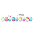 happy easter color easter egg in medical face vector image vector image
