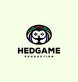 hedgehog game logo vector image vector image