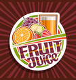 label for fruit juice vector image
