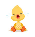 little cartoon duckling crying cute emoji vector image vector image