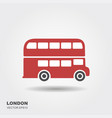 london double-decker flat red bus vector image