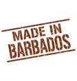 made in barbados stamp vector image vector image
