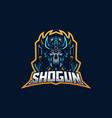 ninja esport gaming mascot logo template for vector image vector image
