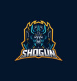ninja esport gaming mascot logo template vector image