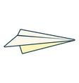 paper plane creativity icon vector image vector image